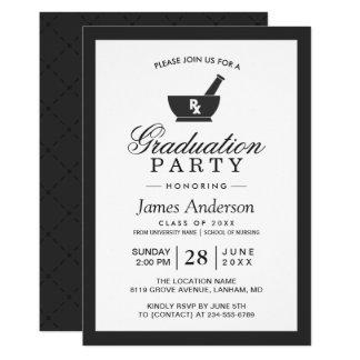 Nobles Chic-Apotheken-SchulAbschluss-Party 12,7 X 17,8 Cm Einladungskarte