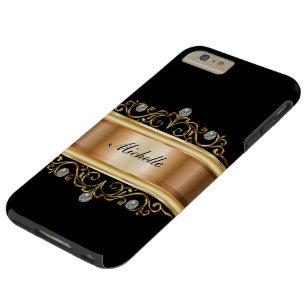 Nobles Damen-Monogramm Bling Tough iPhone 6 Plus Hülle