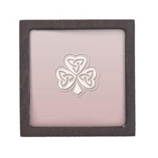 Nobles elegantes irisches glückliches Kleeblatt Kiste