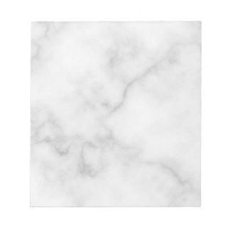 Nobles elegantes weißes Marmormuster Notizblock