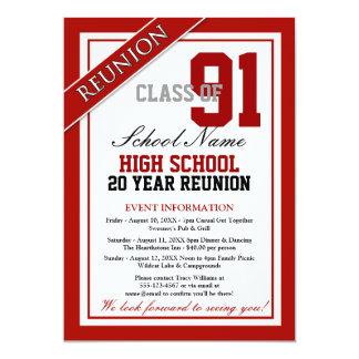 Nobles formales Highschool Wiedersehen 12,7 X 17,8 Cm Einladungskarte