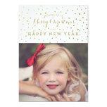Nobles Gold punktiert frohe Weihnacht-Foto-Karte Personalisierte Einladungskarte