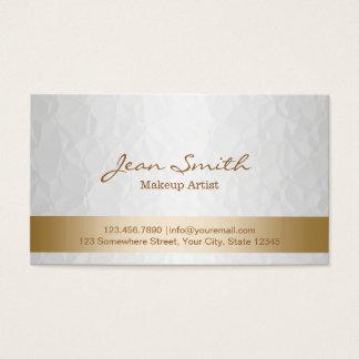 Nobles Gold u. weißer Maskenbildner Visitenkarte