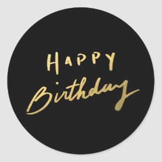 Nobles Goldalles Gute zum Geburtstag Runder Sticker