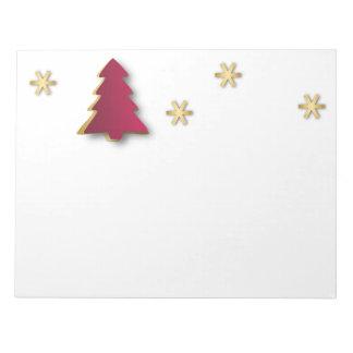 Nobles Goldroter Weihnachtsbaum - Notizblock