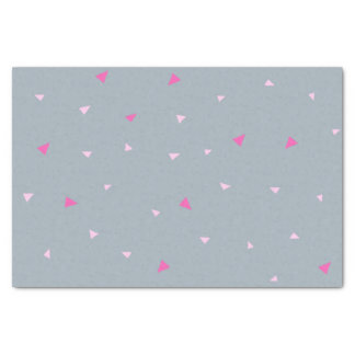 Nobles graues Pink-Dreieckconfetti-Gewebe Seidenpapier