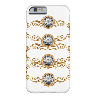 Nobles Imitatkristallbing-Monogramm Barely There iPhone 6 Hülle