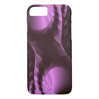 Nobles lila schwarzes abstraktes iPhone 8/7 hülle