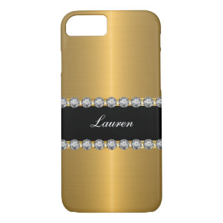 Nobles schillerndes simuliertes Juwel-Monogramm iPhone 7 Hülle