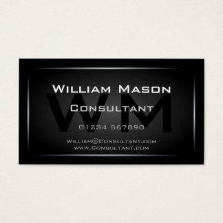 Nobles schwarzes gerahmtes Monogramm beruflich Visitenkarte