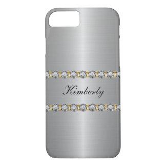 Nobles simuliertes Juwel-Monogramm iPhone 7 Hülle
