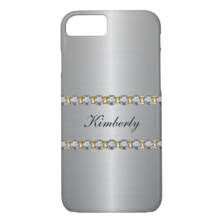 Nobles simuliertes Juwel-Monogramm iPhone 8/7 Hülle