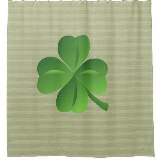 Nobles Trendy irisches glückliches Kleeblatt Duschvorhang