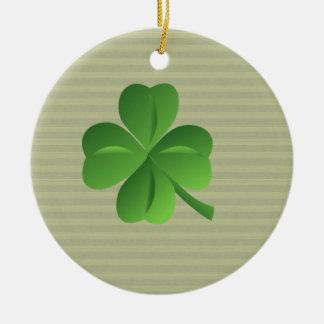 Nobles Trendy irisches glückliches Kleeblatt Keramik Ornament