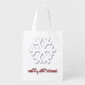 Nobles Weihnachtswiederverwendbare Tasche! Wiederverwendbare Einkaufstasche