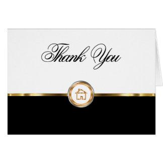 Nobles wirkliches Anwesen danken Ihnen Notecards Mitteilungskarte