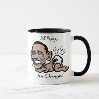 Noch, hoffend für Änderungc$anti-obama-Gang Tasse
