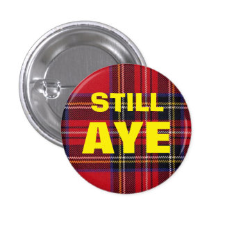Noch ja Tartan-schottisches Runder Button 2,5 Cm