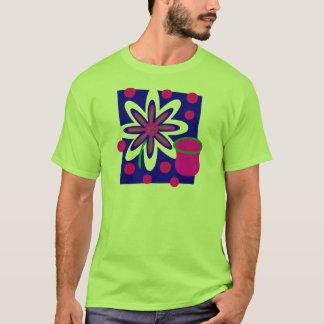 Noch Leben-Blume und Vase, pinkfarben u. tief Blau T-Shirt