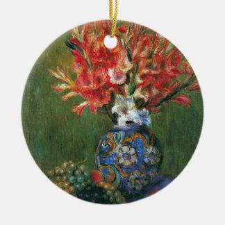 Noch Leben-Blumen und Frucht durch Pierre Renoir Keramik Ornament