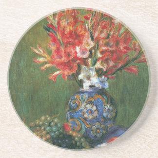 Noch Leben-Blumen und Frucht durch Pierre Renoir Sandstein Untersetzer