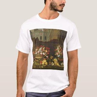 Noch Leben mit Blumen, Früchten und Muscheln T-Shirt