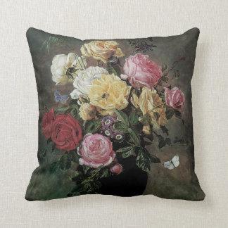 Noch Leben mit Blumen im Vase durch Olaf Hermansen Kissen