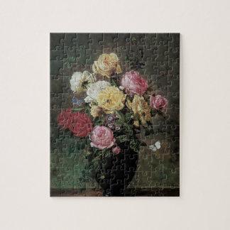 Noch Leben mit Blumen im Vase durch Olaf Hermansen Puzzle