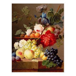 Noch Leben mit Frucht und Blumen Postkarte