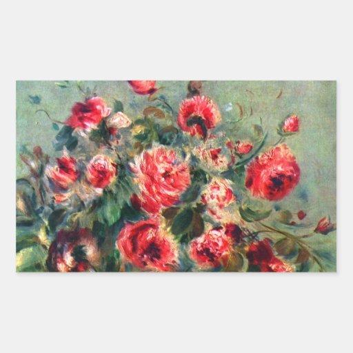 Noch Leben-Rosen von Vargemont durch Claude Monet Aufkleber