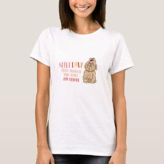 NOCH LIEBE mein grundlegender T - Shirt Shih Tzu