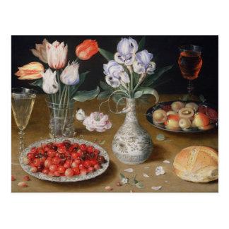 Noch Lilien, Tulpen, Kirschen und Erdbeeren Postkarte