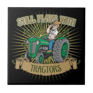 Noch Spiele mit grünen Traktoren Kleine Quadratische Fliese
