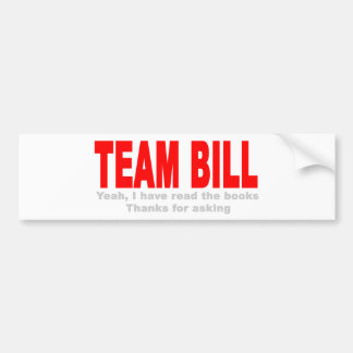Noch Team Bill Autoaufkleber