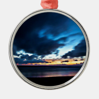 Nocturnal Cloud Spectacle on Danish Sky Silbernes Ornament