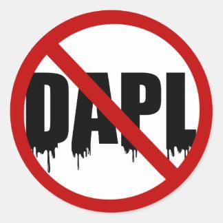 #NoDAPL Runder Aufkleber
