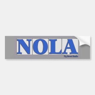 NOLA, blaue Buchstabe-Straßen-Fliesen Autoaufkleber