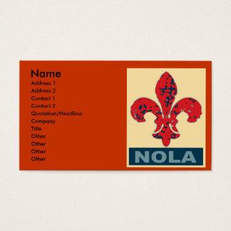 NOLA-Lilie Visitenkarte