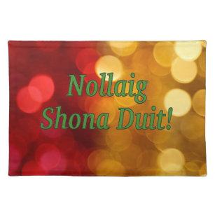 Frohe Weihnachten Irisch.Irisch Tischsets Zazzle De