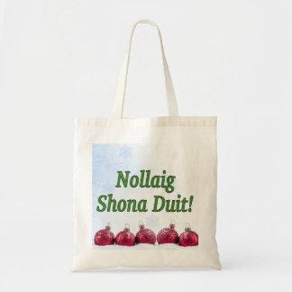 Nollaig Shona Duit! Frohe Weihnachten im irischen Tragetasche