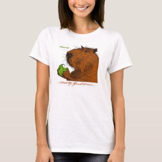 """""""Nom."""" Das T-Stück der bunten Capybara-Frau T-Shirt"""