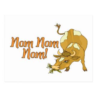 Nom Nom Kuh Postkarte