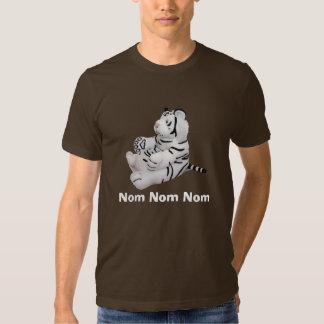 Nom Nom Nom weißes Tiger-Shirt T Shirts
