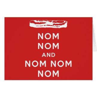 Nom Nom und Nom Nom Nom Grußkarte