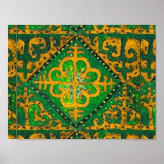 Nomadische Mandala. Zentralasien. Poster