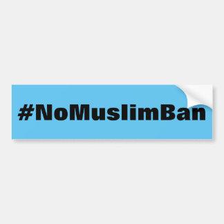 #NoMuslimBan, mutiger schwarzer Text auf Autoaufkleber