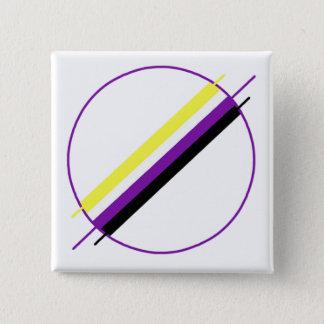 Nonbinary Stolz-Button Quadratischer Button 5,1 Cm
