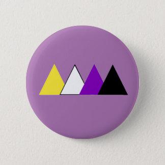 Nonbinary Stolz-Dreieck-Button Runder Button 5,7 Cm