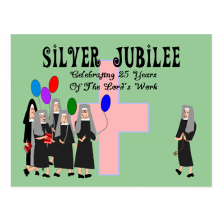 Nonnen-silbernes Jubiläum-Geschenke Postkarte
