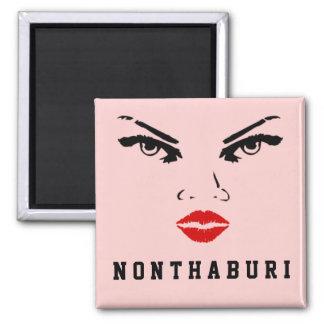 Nonthaburi, Thailand-Frau Quadratischer Magnet